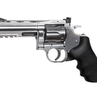 ASG Dan Wesson 715 4 Pellet Revolver, Silver 0.177 Cal