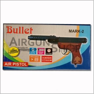 Bullet Mark-2 Wooden Black Air Pistol 0.177 Cal