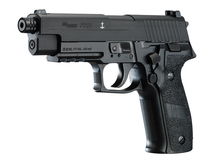 SIG Sauer P226 CO2 Pellet Pistol, Black 0.177 Cal (4.5mm)