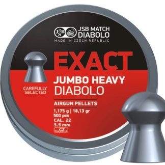 JSB Diabolo Exact Jumbo Heavy 0.22 Cal (5.5mm)   18.13 Grains, Domed, 500ct